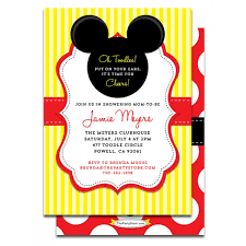 mickey mouse baby shower invitations printable mickey mouse baby