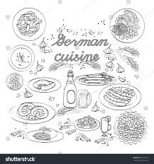 cuisine etc national meal vector german cuisine illustration เวกเตอร สต อก