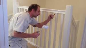 How To Paint Stair Banisters Painting U0026 Decorating How To Gloss A Staircase Youtube