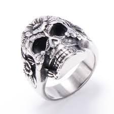 316l stainless steel skull ring shige te priced steel