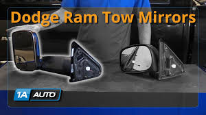 dodge ram tow mirror glass replacement how to install tow mirrors upgrade 2002 08 dodge ram 1500 buy