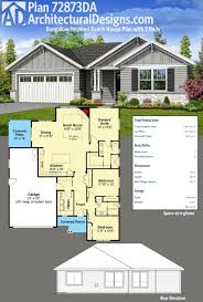 ranch house plan plan 72873da bungalow inspired ranch house plan with 3 beds