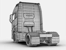 volvo 10 wheeler truck volvo fh 16 2012 3d cgtrader