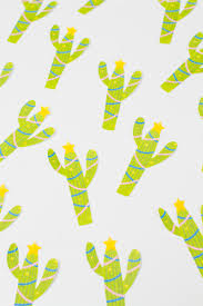 free printable christmas cactus garland colourful christmas decor