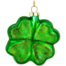 four leaf clover glass ornament ethnic pride ornaments