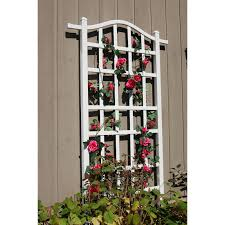100 rose trellis plans a garden wall with a trellis and red