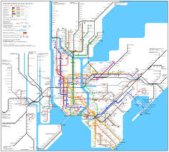 Maps Of New York State by Large Detailed Subway Map Of New York City Usa New York City