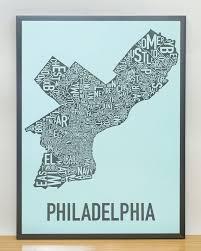 Philadelphia Zip Code Map by Amazon Com Philadelphia Neighborhoods Map Black U0026 White 18