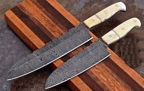 damascus steel kitchen knives spartan knives custom made damascus steel kitchen chef knives