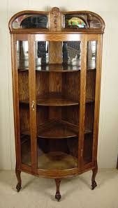 curio cabinet corner display cabinet kitchen awesomec curio