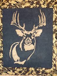 Camo Bedroom Inlaid Carved Deer And Camo Rug For Camo Kids Caves By Www