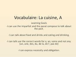 vocabulaire de cuisine vocabulaire la cuisine