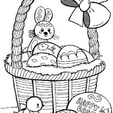 easter basket with eggs coloring page creative easter basket coloring page batch coloring
