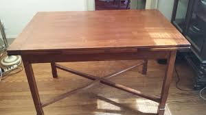 maple dining room table i have a trutype solid hard rock maple dining room set bought from