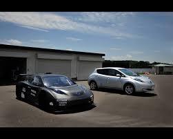 nissan leaf nismo rc racing green electric car 2011