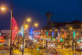 great yarmouth u2013 new seafront decorative lighting on marine parade