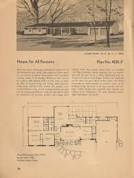 vintage house plans mid century homes house plans pinterest