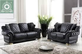 black leather living room set martino black 6 pc leather power