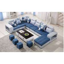 Modern Fabric Sofa Sets Living Room U Shape Fabric Sofa Furniture