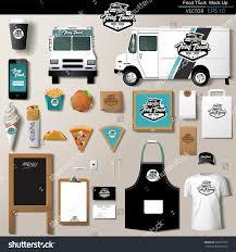 vector food truck corporate identity template stock vector