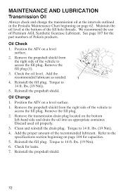 maintenance and lubrication transmission oil polaris scrambler