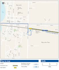 Portland Light Rail Map by Big Lake Station Metro Transit