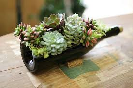 succulent planters turn wine bottles into gorgeous succulent planters diy projects