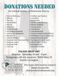 donations accepted for victims of hurricane harvey st tammany
