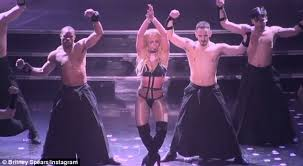 Oops Halloween Costume Britney Spears Gyrates Barely Black Costume Daily