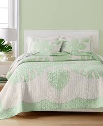 Macy S Bed And Bath Martha Stewart Collection Maui Medallion Cotton Quilt And Sham