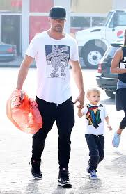 josh duhamel takes his son shopping for halloween costume daily