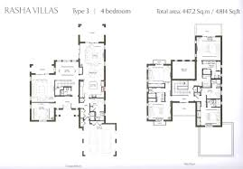 Villa Floor Plan by Al Rasha Villa Floor Plans Arabian Ranches Dubai