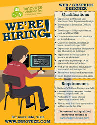 job hiring web graphics designer for innovuze solutions inc