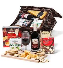 wine and cheese baskets cheese and wine gift basket wine baskets a lovely gift