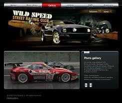 street racing flash website template best website templates