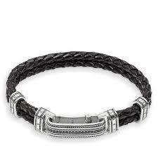 black bracelet women images Thomas sabo leather strap black pav women bracelets lb50 019 11 jpg