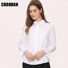 aliexpress com buy white blouse shirt women long sleeve pleated