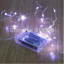 5 x 2m 10m silver wire white blue red green yellow pink aa battery