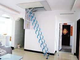 retractable metal telescopic loft ladder folding folding attic