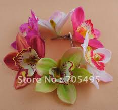 flower decoration for hair wedding flowers silk wedding orchid hair flower