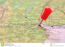 Buenos Aires Map Pin In Map Of Buenos Aires Argentina Stock Photo 47283216 Megapixl