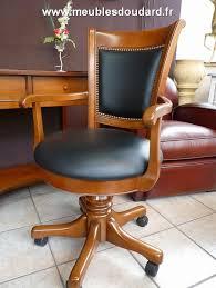 fauteuil de bureau en bois pivotant meuble bureau merisier 5 tiroirs 1 porte réf 530