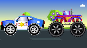 videos monster truck kids games videos monster trucks vs police car fun learning