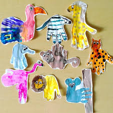 Hand Crafts For Kids To Make - fun zoo animal handprint crafts for kids crafty morning