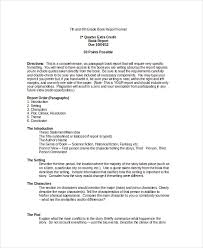 third grade book report template book report format 8 free word pdf documents free