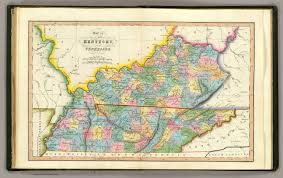 Map Of Tennessee And Kentucky by Kentucky Tennessee David Rumsey Historical Map Collection