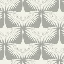 feather flock self adhesive wallpaper in chalk by genevieve gorder