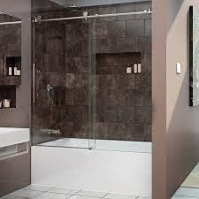 glass tub shower doors frameless dreamline enigma x 56 59 in width frameless sliding tub door 3