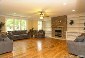 of built in bookshelves around fireplace raleigh new homes