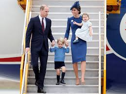 kate middleton prince william and family arrive in canada